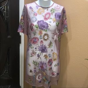 ASOS SHEER FLORAL COVERUP GOOD CONDITION SIZE 8